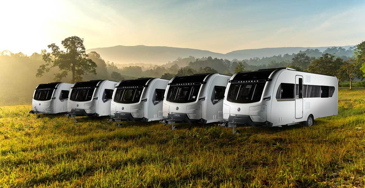 Three Coachman caravans
